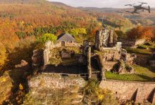 Rundflug auf der Burgruine Hohnstein
