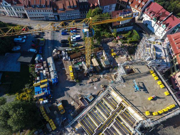 Ein Blick zur Baustelle.