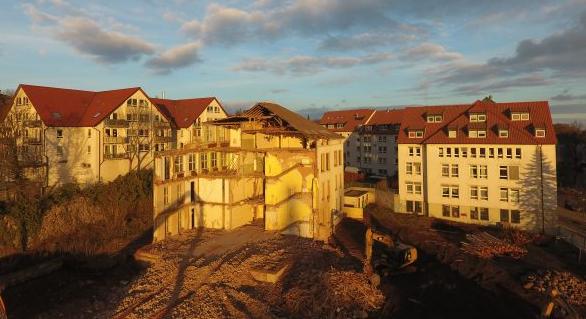 Ein Blick zur Baustelle